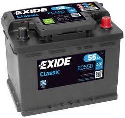 Аккумулятор Exide EC550, 55 А/ч 460А