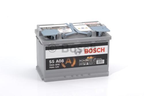 BOSCH S5 (S5A 080) AGM 70 А/ч 760 А START-STOP