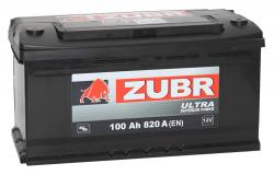 Аккумулятор ZUBR (ЗУБР)ULTRA100Ah+L