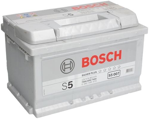 BOSCH S5 (S50 070) 74 А/ч 750 А