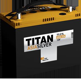 Аккумулятор TITAN ASIA SILVER 77ah, 6СТ-77.0 VL B01