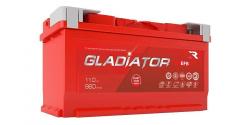 Аккумулятор автомобильный GLADIATOR EFB 110Ah 960А (Start-Stop)