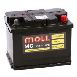 Аккумулятор автомобильный MOLL MG 62Ah 600A низкий