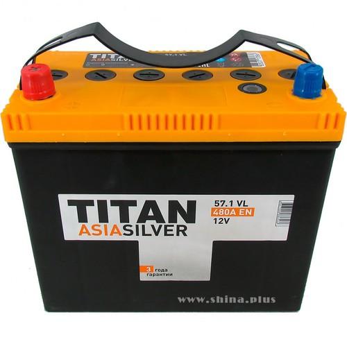 Аккумулятор TITAN ASIA SILVER 57ah, 6СТ-57.1 VL B00
