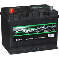 Аккумулятор автомобильный Gigawatt G68JL 68А/ч 550A