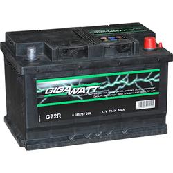 Аккумулятор автомобильный Gigawatt G72R 72А/ч 680A