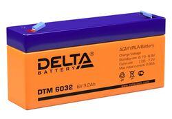 Аккумулятор Delta DTM 6032 (6V / 3.2Ah)