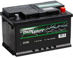 Аккумулятор автомобильный Gigawatt G70R 70А/ч 640A
