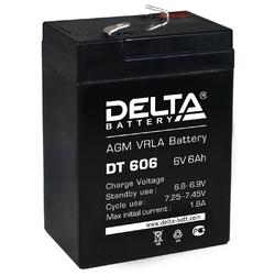 Аккумулятор Delta DT 606 (6V / 6Ah)