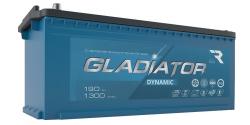 Аккумулятор автомобильный GLADIATOR dynamic 190Ah 1300А прямая полярность