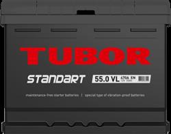 Аккумулятор автомобильный TUBOR STANDART 55ah 6СТ-55.0 VL