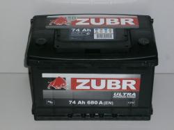 Аккумулятор ZUBR (ЗУБР)ULTRA74Ah+L