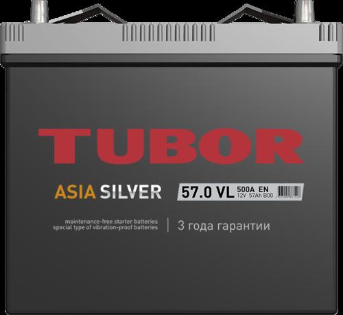Аккумулятор TUBOR ASIASILVER 57ah, 6СТ-57.0 VL B00