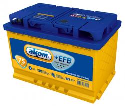 Аккумулятор Аком Asia EFB 75Ah 720a (L+)