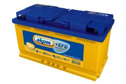 Аккумулятор Аком Asia EFB 90Ah 820a (R+)
