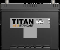Аккумулятор автомобильный TITAN ASIA STANDART 72ah 6СТ-72.1 VL B01