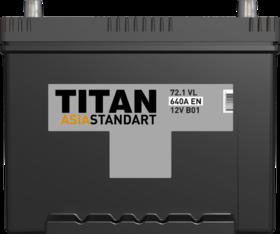 Аккумулятор TITAN ASIA STANDART 72ah, 6СТ-72.1 VL B01