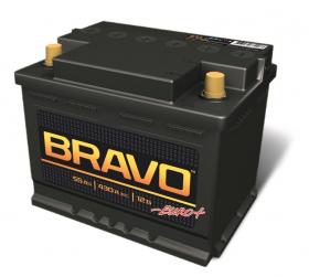Аккумулятор Аком Bravo 55Ah 430a (L+)