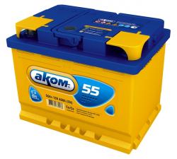 Аккумулятор Аком 55Ah 500a (L+)