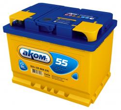 Аккумулятор Аком 55Ah 500a (R+)