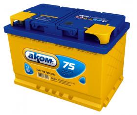 Аккумулятор Аком 75Ah 700a (L+)