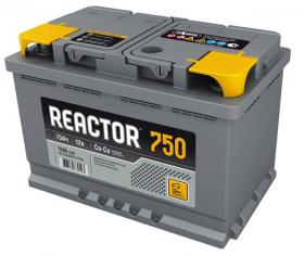 Аккумулятор Аком Reactor 75Ah 750a (L+)