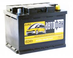 Аккумулятор Автофан 60Ah 470a (6СТ-60L) (L+)