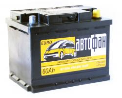 Аккумулятор Автофан 60Ah 470a (6СТ-60R) (R+)