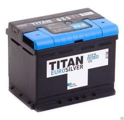 Аккумулятор автомобильный TITAN EUROSILVER 63ah 6СТ-63.0 VL kamina
