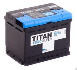 Аккумулятор TITAN EUROSILVER 61ah, 6СТ-61.0 VL