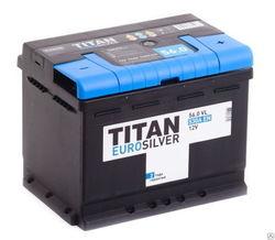 Аккумулятор автомобильный TITAN EUROSILVER 56ah 6СТ-56.0 VL