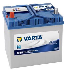 Аккумулятор автомобильный Varta blue dynamic D48 (560411054)