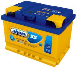 Аккумулятор Аком LB 55Ah 520a (R+)