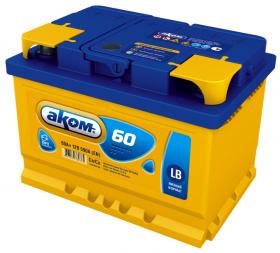 Аккумулятор Аком LB 60Ah 590a (R+)
