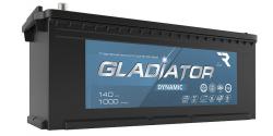 Аккумулятор автомобильный GLADIATOR dynamic 140Ah 1000А прямая полярность