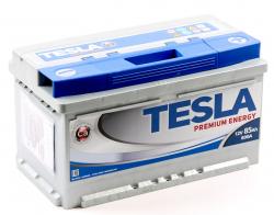 Аккумулятор автомобильный TESLA PREMIUM ENERGY 85 Ah 800А низкий