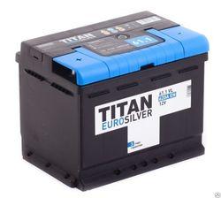 Аккумулятор TITAN EUROSILVER 61ah, 6СТ-61.1 VL