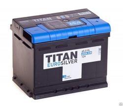 Аккумулятор автомобильный TITAN EUROSILVER 65ah 6СТ-65.0 VL