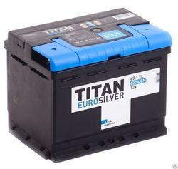 Аккумулятор автомобильный TITAN EUROSILVER 63ah 6СТ-63.1 VL