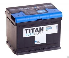 Аккумулятор автомобильный TITAN EUROSILVER 65ah 6СТ-65.1 VL