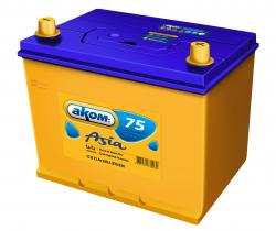 Аккумулятор Аком Asia 75Ah 630a (R+)