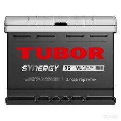 Аккумулятор TUBOR SYNERGY 75ah, 6СТ-75.0 VL