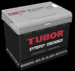 Аккумулятор TUBOR SYNERGY 61ah, 6СТ-61.1 VL