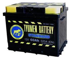 Аккумулятор автомобильный Тюмень STANDARD 60 а/ч п.п. 6СТ-60