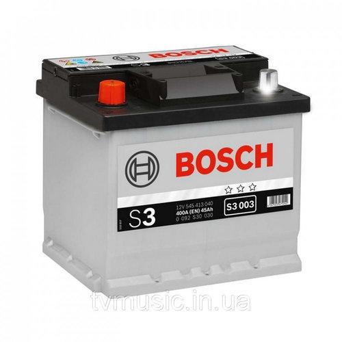 BOSCH S3 (S30 030)  45А/ч  400А