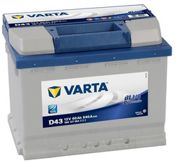 VARTA Blue dynamic-60Ач (D43)  60А/ч  540А