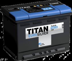 Аккумулятор автомобильный TITAN EUROSILVER 76ah 6СТ-76.0 VL