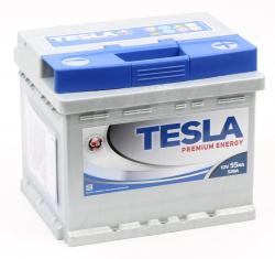 Аккумулятор автомобильный TESLA Premium 55Ah 520А низкий