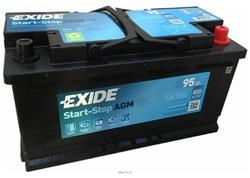 Аккумулятор автомобильный Exide EK950 95 А/ч 850А AGM Start-Stop