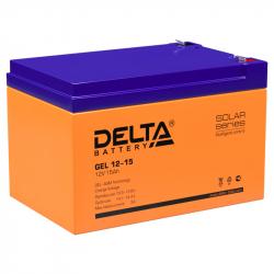 Аккумулятор Delta GEL 12-15 (12V / 15Ah)